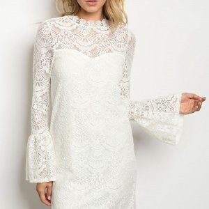 Dresses & Skirts - White Laced Formal Dress